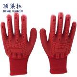 18gスパンデックスはTPRの高い耐衝撃性の手袋を反切った