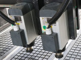 Pneumatische Sysem multi Spindel CNC-hölzerne schnitzende Maschine, Fräser-Maschinen-Holz, zwei Köpfe CNC-Fräser mit Dreh