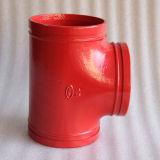 Las instalaciones de tuberías de FM/UL/Ce roscaron la te dúctil Grooved del hierro
