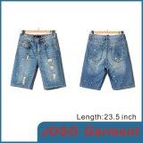 Shorts da sarja de Nimes da lavagem da luz dos homens (JC3066)