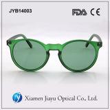 Óculos de sol plásticos polarizados da alta qualidade da forma do espelho unisex
