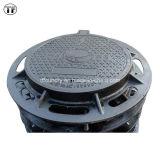 Ductile resistente Cast Iron Machined Manhole Covers com Rubber Gasket
