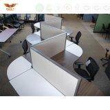 Panneau en verre premier Officeworkstation moderne de T-Forme élégante