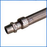 1/4 conducto flexible acanalado roscado NPT del agua
