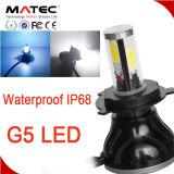 G5 4側面の穂軸80W 8000lmチップ4300k黄色いH4 H7 H11 9005 9004本の穂軸LEDのヘッドライト