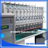 El ANSI 24 coloca el banco de prueba del contador de la energía