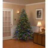árbol de navidad artificial del pino Nevado del Pre-Lit de los 7.5FT LED con los conos y las luces multicoloras (MY100.094.00) del pino