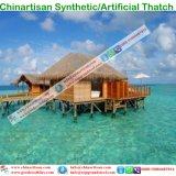 Tropische Kunstmatige Synthetisch van de Stijl van het Eiland met stro bedekt de Paraplu van het Strand van de Bungalow van het Water van het Plattelandshuisje van de Hut van de Staaf Tiki