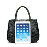 Nuova borsa del sacchetto della signora Tote del cuoio della mucca del grano di Croc di arrivo 2017