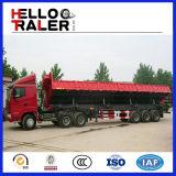 3つの車軸はトレーラー輸送の販売のためのダンプの味方する