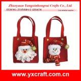 Decoración de Navidad (ZY15Y031-1-2) promoción de la Navidad Vino Saco Bolsa de lujo