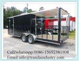 カートまたは移動式食堂車またはファースト・フードの台所トレーラー車を調理する食糧