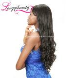 Hochwertige Guleless Großhandelsjungfrau-menschliche volle Spitze-Haar-Perücke 100%