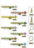 Hardware de los accesorios de la cortina de Rod de la ventana del hierro del tubo de la cortina