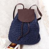 Empfindliches buntes Papierstroh-materieller Strand-Rucksack für Mädchen