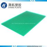 Painel plástico revestido UV da telhadura do policarbonato com autenticação do GV
