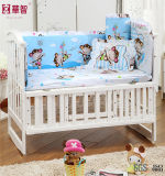 파란 면 아기 침대 시트 세트