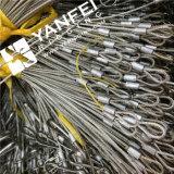 Corde de fil d'acier de l'acier inoxydable 304 avec le crochet recto