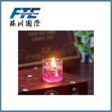 Vela de cristal de los tarros coloridos para el cumpleaños o la unión