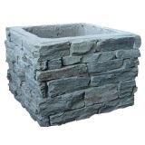 Штендеры цемента камня шифера Китая сбываний Ot естественные черные (SMC-PC003)