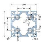 De Uitdrijvingen van het aluminium voor de Systemen van de Vertoning