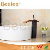 Heiße Verkaufs-hohe Lichtbogen Balck Kugel-Antike-Messingglaswasserfall-Behälter-Hahn Ql140421b
