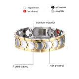 方法宝石類の磁気宝石類のチタニウムのブレスレット(TB103)