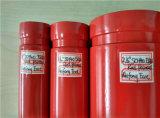 Pipe en acier peinte rouge de lutte contre l'incendie d'extrémité de cannelure de l'UL FM