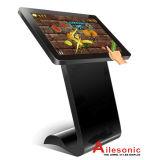 デジタル表記の対話型のタッチスクリーンのモニタのキオスクを立てる50インチLCDの床