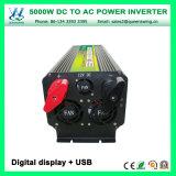 セリウムRoHSが付いているAC110V/220V車力インバーターへの5000W DC12V/24Vは承認した(QW-M5000)