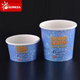 Изготовленный на заказ напечатанная логосом бумажная чашка мороженного