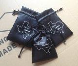 Bolsas de regalo de satén negro con negro Cadena