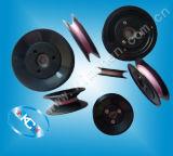 ケーブルプーリーは動かすローラーのプラスチックを陶磁器プーリー(HCR004)フランジを付けたようになった