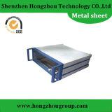 Pieza de metal galvanizada de hoja en el proceso metálico