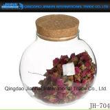 Frasco de vidro do frasco do armazenamento dos doces e do cereal para o alimento