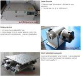 prix en acier de machine d'inscription de laser en métal de fibre de couleur du code barres 30W