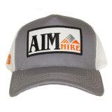 Medio sombrero del camionero de la insignia de la corrección del bordado del acoplamiento del algodón promocional