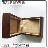 Rectángulo de regalo de cuero del embalaje de la mancuerna del brazalete del presente del recuerdo del rectángulo de almacenaje de la joyería del terciopelo (YLP131)