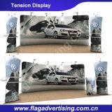 Werbung 250g Polyester Curved Spannungs-Gewebe-Anzeige