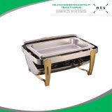 Hotel Full Size Gold Acentuado Roll Top Chafer