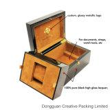 O lustro elevado luxuoso de madeira escolhe a caixa de empacotamento do relógio