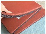 Резиновый плитка настила, плитки напольной спортивной площадки резиновый, резиновый плитки пола гимнастики