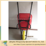 Grande capacidade & Wheelbarrow resistente Wb6900 do metal