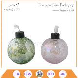 Lámpara de petróleo de cristal de la decoración del vector, lámpara de keroseno con el fieltro
