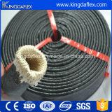 Chemise d'incendie de température élevée de fibre de verre en caoutchouc de silicones