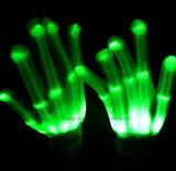 Intermitentes alumbramientos Finger gratuito Tamaño Guantes LED para Chiristmas y de Todos los Santos