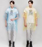 Preiswerte Plastikkundenspezifische Regen-Großhandelsponchos