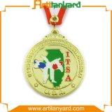 Médaille molle en métal de sport de souvenir d'émail en métal