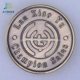 ダイカストの金属のクラフトの記念品のギフトのためのカスタムロゴの青銅の硬貨を