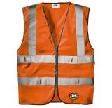 Veste elevada de Constraction da visibilidade da roupa reflexiva grande elevada do tráfego do saneamento